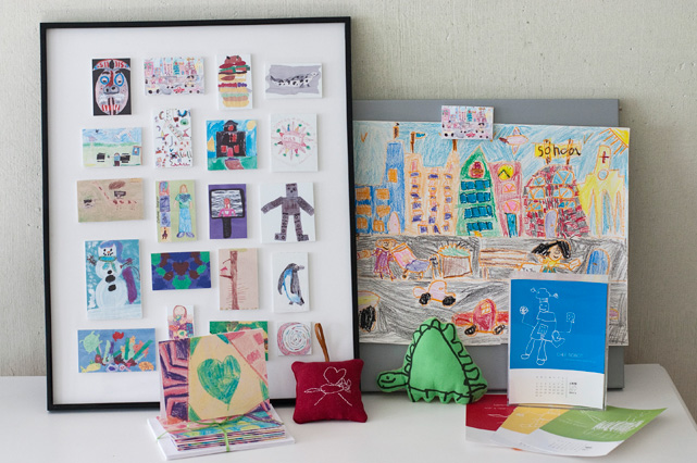 How to creatively display your child's art work.