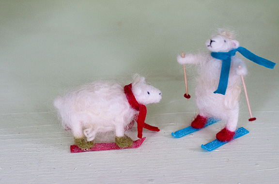 """Needle Felted Sheep from """"Wool Pets"""" book"""