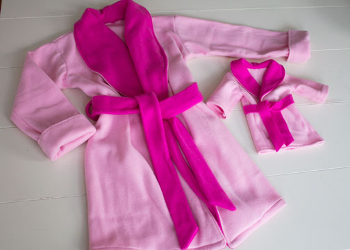 matching AG doll robe