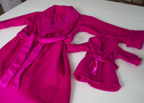 American Girl doll robe
